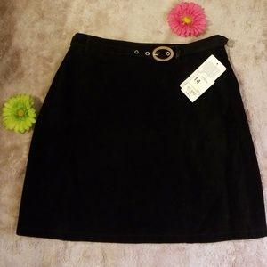 Mixit Black leather skirt